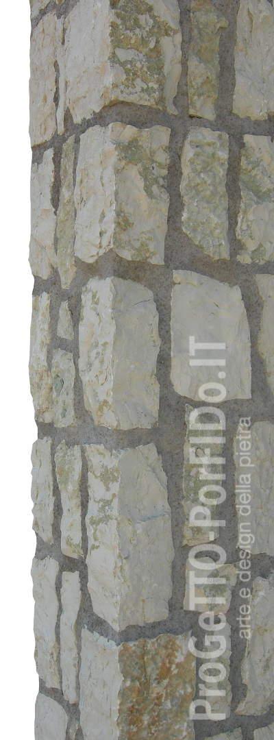 colonna sasso calcareo giallo verdello