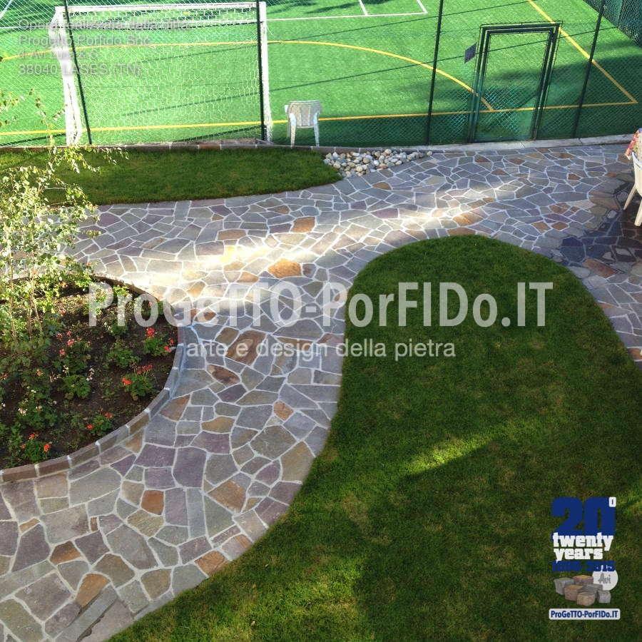 pavimentazione con mosaico a opera incerta