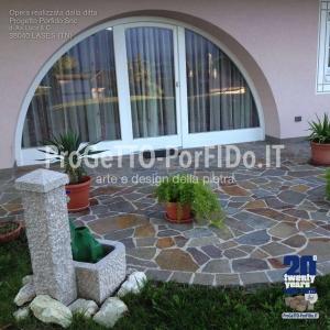 terrazzo in porfido a mosaico