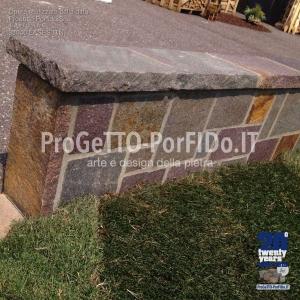 muro romana porfido