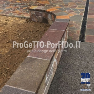 muro sassi grezzi mosaico
