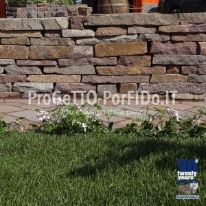 muro sassi grezzi secco