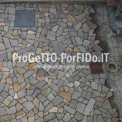 pavimentazioneopera incerta mosaico porfido