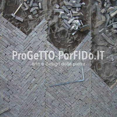 Pavimentazione esterna porfido