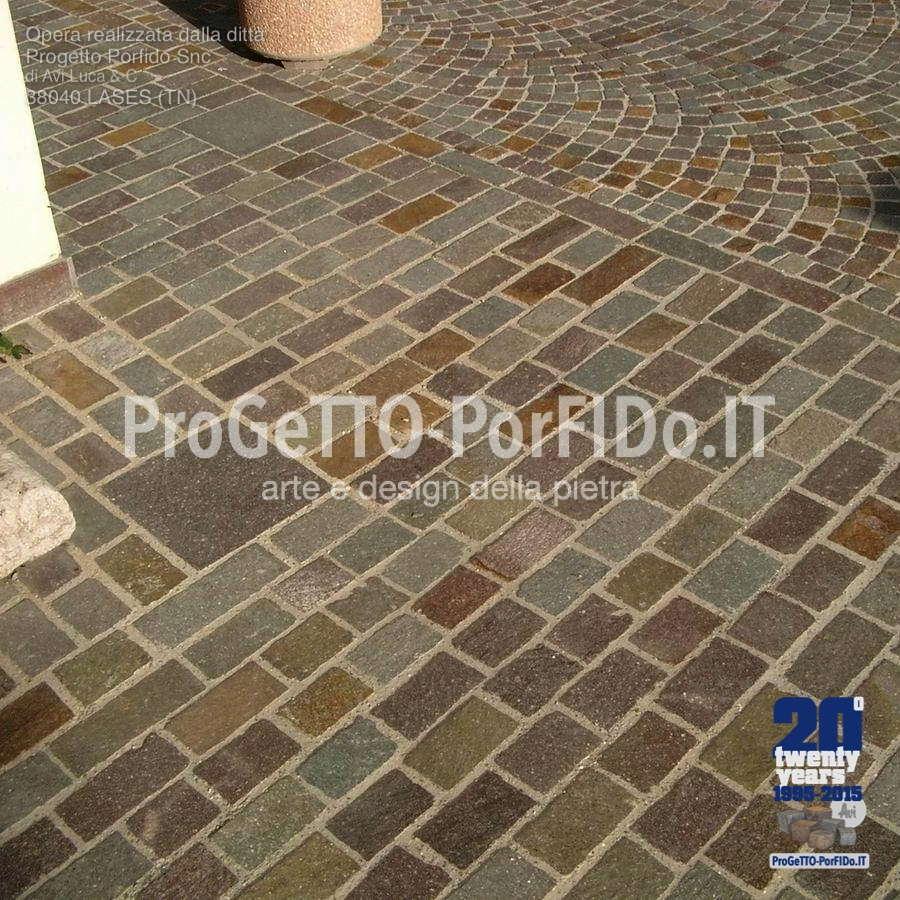 Porfido per esterni prezzi with porfido per esterni - Piastrelle effetto pietra per esterno prezzi ...