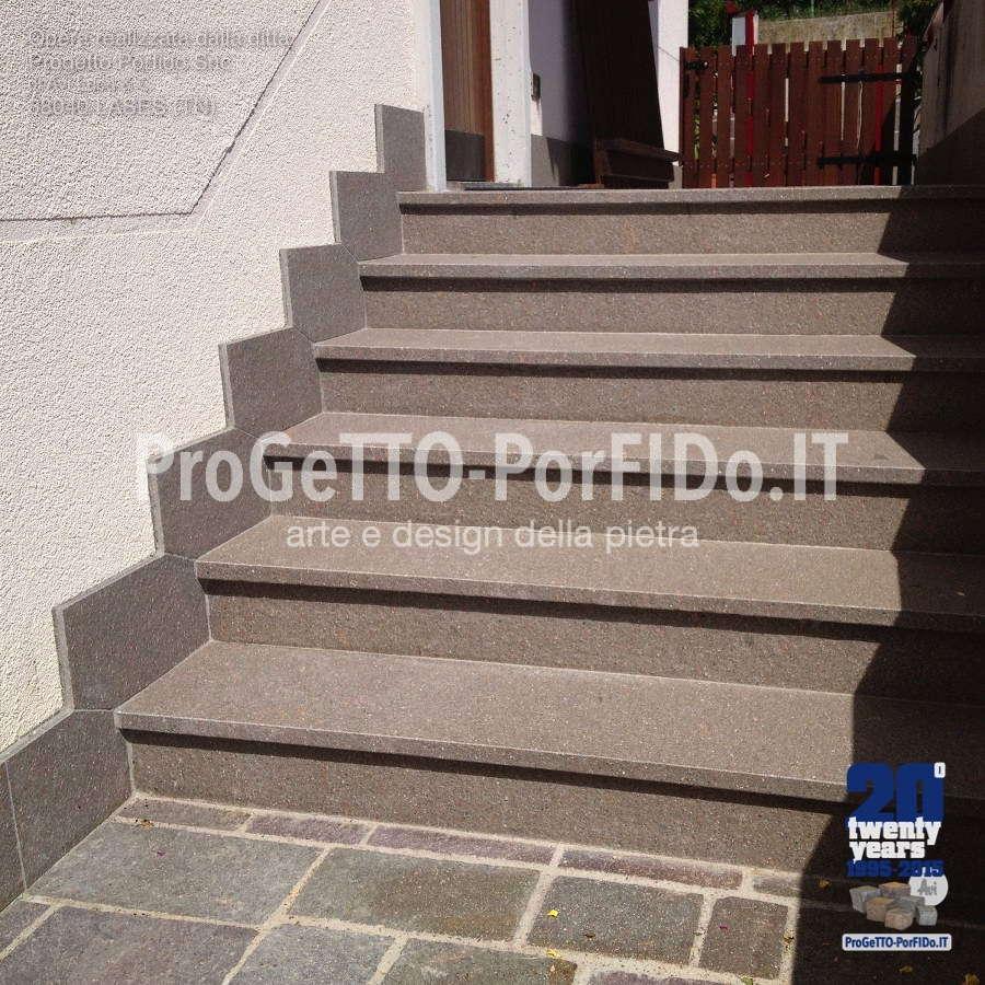 scalinata porfido casa