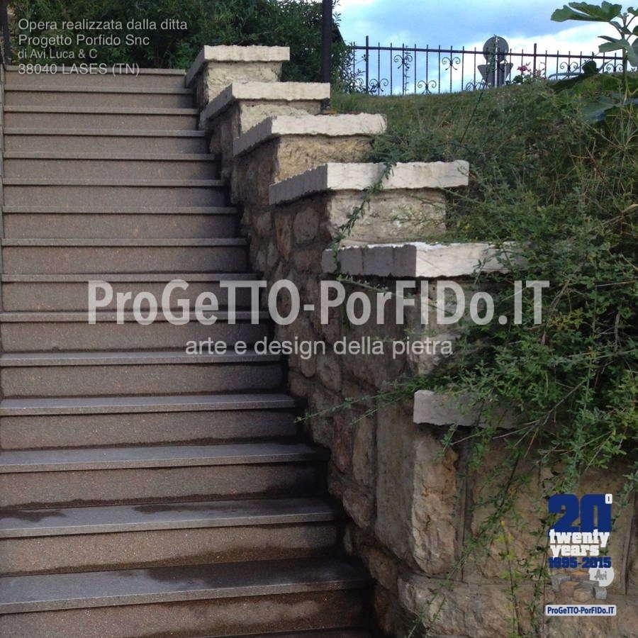 scalinata porfido trentino