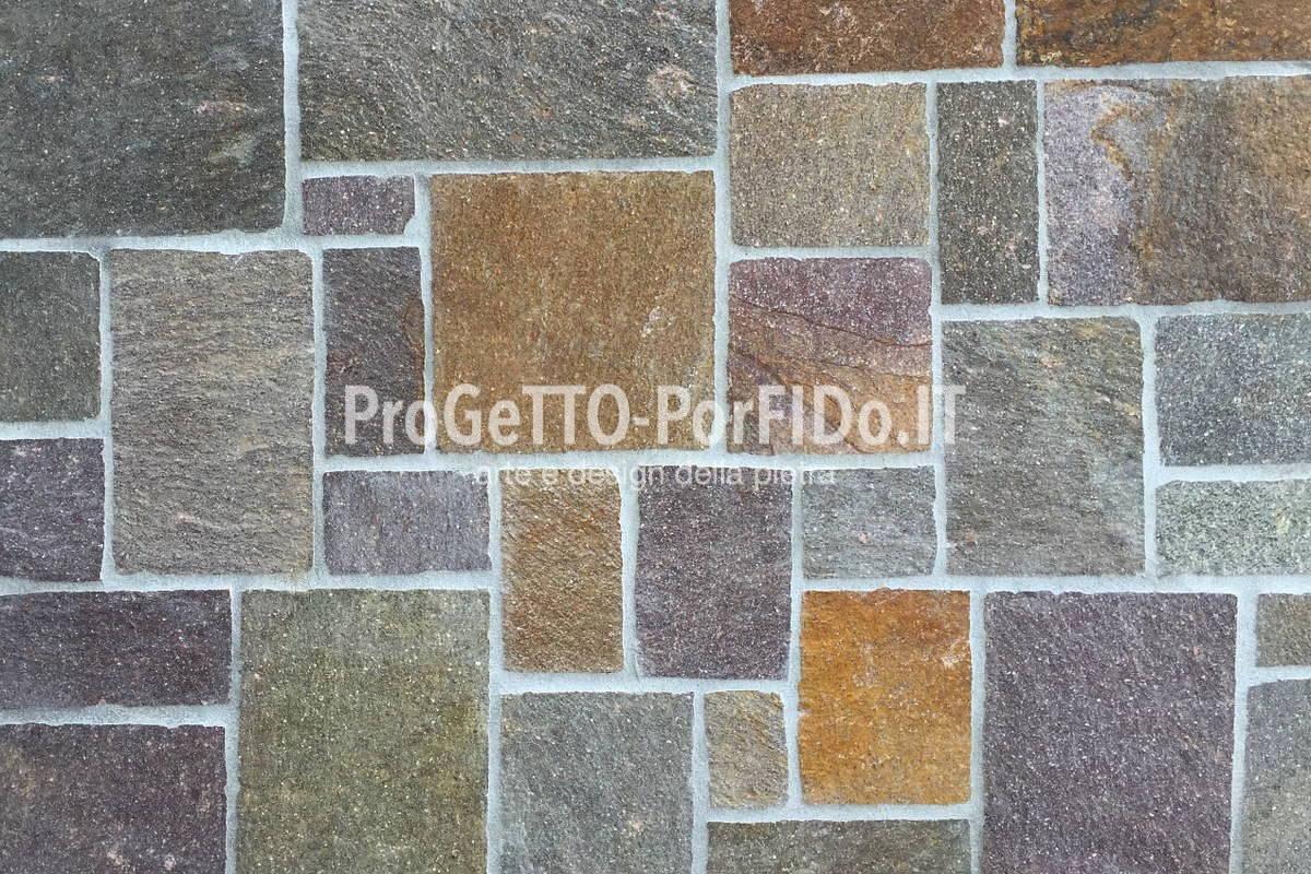 Rivestimento muri con pietre naturali e porfido - Progetto Porfido ...