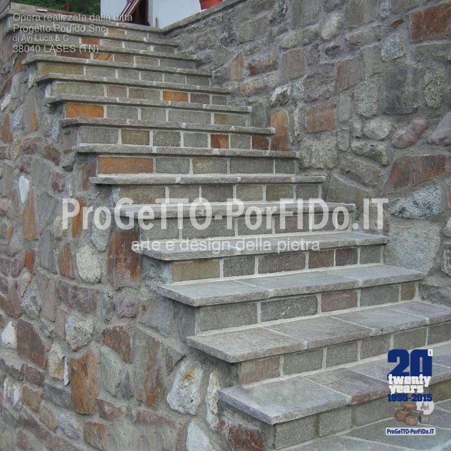 gradinata di porfido rustica