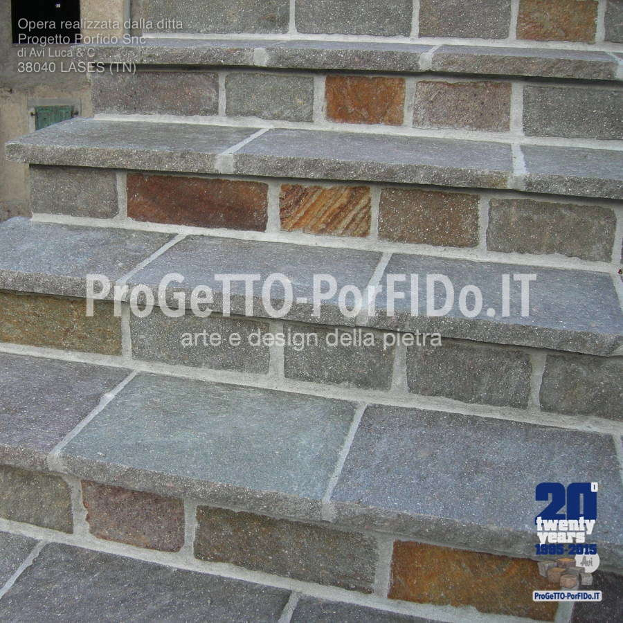 gradini rustici dettaglio
