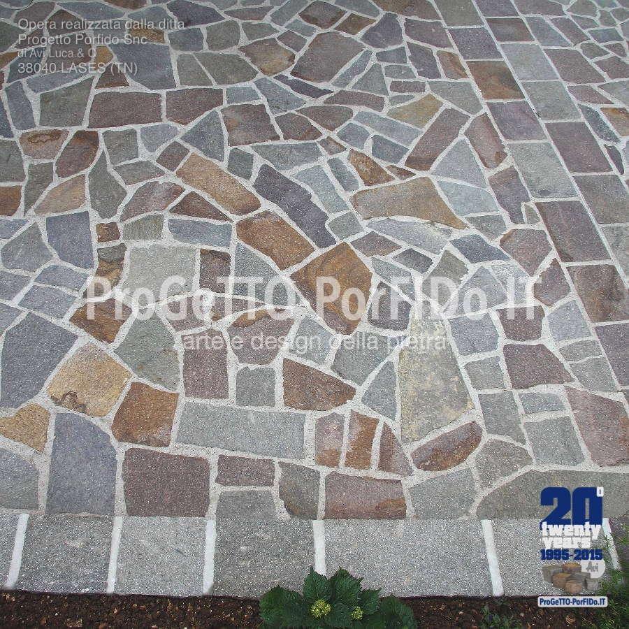 mosaico di porfido trentino a marchio doc