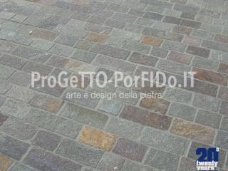 Pavimenti per marciapiedi esterni a piastrelle a spacco e lastrame