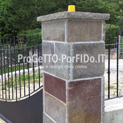 rivestimenti porfido pilastri