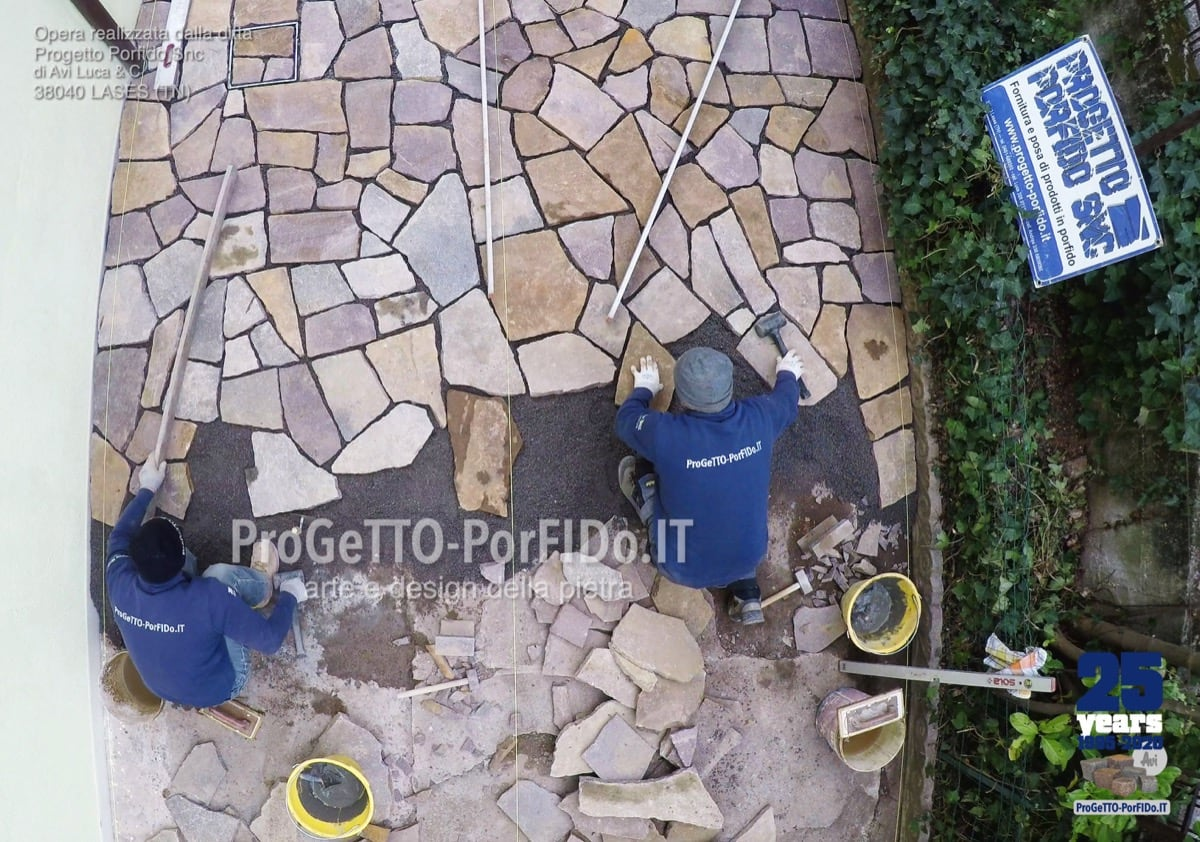 Come Costruire Un Mosaico posa | come si posa il mosaico ad opera incerta di porfido