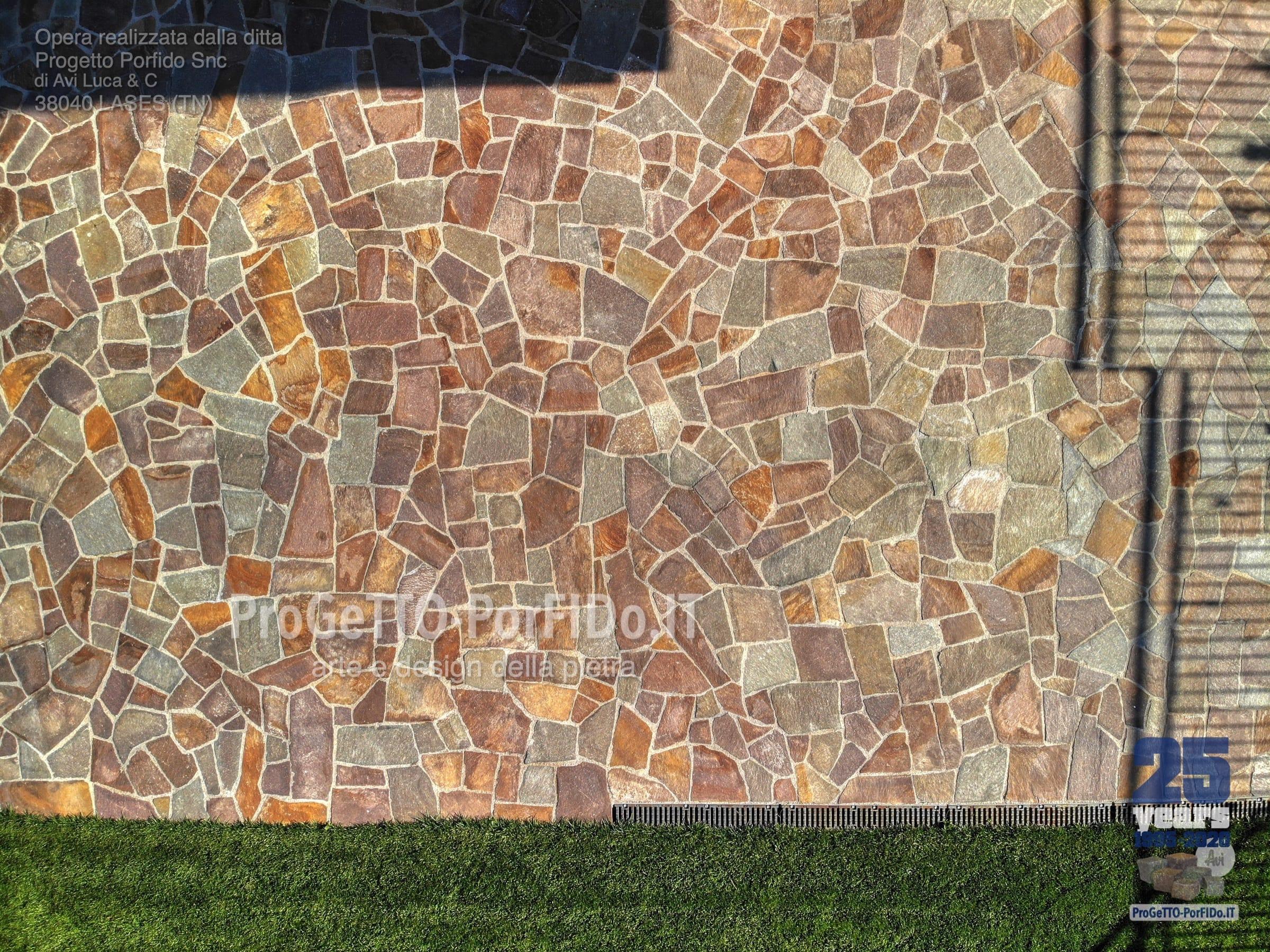 il mosaico di porfido trentino che vorresti
